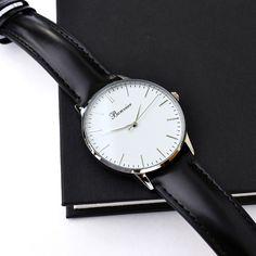 Details - Classic White/S. Free shipping worldwide - www.bonvier.com #bonvier #watches #orologi
