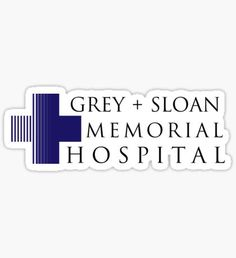 """""""Grey + Sloan Memorial Hospital – Grey's Anatomy, McDreamy"""" Stickers by fandemonium Grey's Anatomy, Greys Anatomy Logo, Greys Anatomy Frases, Grey Anatomy Quotes, Stickers Cool, Tumblr Stickers, Printable Stickers, Planner Stickers, Love One Another Quotes"""