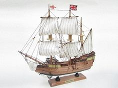 #PopularKidsToys Just Added In New Toys In Store!Read The Full Description & Reviews Here - Mayflower Starter Boat Kit: Build Your Own Wooden Model Ship - Great introductory model boat building kit.  The kit includes: Pre-formed hull, Pre-cut wooden parts, Rigging and sails, Glue, Sandpaper, six paints, boat nameplatepaintbrush and instruction sheet.  Finished model approximately 33x7x33cm 13×2.75×13″ Mayflower Starter Kit Build your own boat Introductory kit