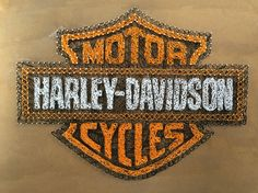 Made a Harley Davidson string art.