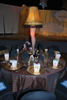 2009 christmas story table center piece by kim hicks hahahahaa i am