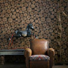 Andrew Martin Engineer Lumberjack Wood Wallpaper | Andrew-Lumberjack | £77.90