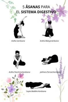"""Estas cinco posturas son canela en rama para el sistema digestivo. Al realizarlas, ejerces un masaje en tus órganos y vísceras que te ayudarán a mejorar su función. Forman parte de la Secuencia para el Sistema Digestivo del Curso """"Yoga para la Salud"""", que puedes encontrar en el enlace. Y recuerda que dispones de una lección totalmente gratis."""