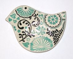 ceramic bird spoon rest handmade by personalizedceramics on Etsy, $10.00