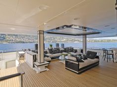 On Deck, The Silver Angel Super Yacht