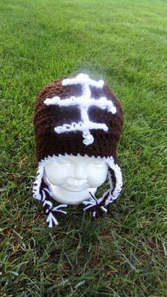 football crochet hat
