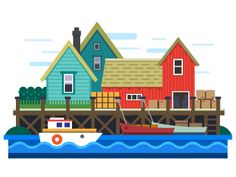 Sea port by Art store