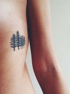 tattoo | nature tattoo | tattoo ideas | tattoo inspo | tiny tattoo | trees | nature girl | 21 Tiny Tattoos to Every Outdoorsy Girl Should Commit To