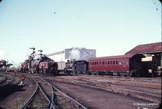 108171: Rockhampton Down Goods Beyer Garratt 1003 and Up Prison Train Pb15 469. 1 November 1966.