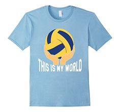 Men's Volleyball T- Shirt: This is my world 2XL Baby Blue…