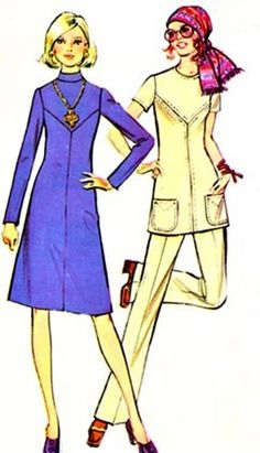 70s MOD A Line Dress or Tunic McCalls 2952 Womens A Pounds Thinner pattern Vintage Sewing Pattern Size 10 (32.5-24-34.5) by sandritocat on Etsy
