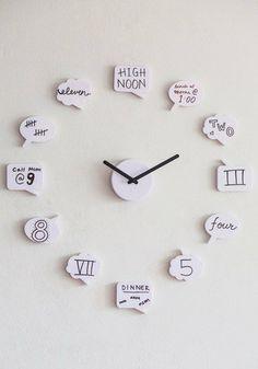 Tick Talk Clock | Mod Retro Vintage Wall Decor | ModCloth.com on Wanelo