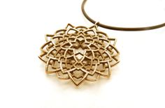 NEW for SUMMER 2014!    Adorn your neck with an exquisitely intricate modern flower pendant created using math, computers and technology! Each