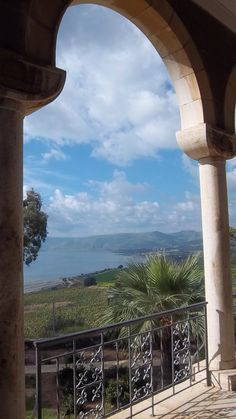 Mt. of Beatitudes. Israel Somewhere on this hillside is where Jesus taught.