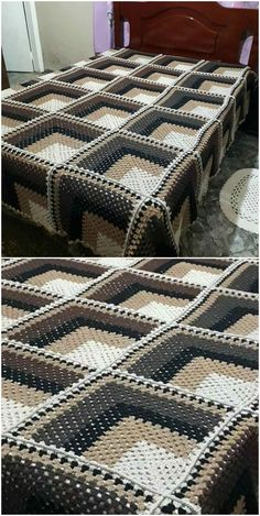 Awesome Crochet Blanket - Craft Ideas - knitting is as easy as 3 . free pattern easy ideas Awesome Crochet Blanket - Craft Ideas - knitting is as easy as 3 . Crochet Quilt, Afghan Crochet Patterns, Baby Blanket Crochet, Free Crochet, Crochet Bedspread Pattern, Crochet Fabric, Quilt Baby, Tapestry Crochet, Crochet Afghans