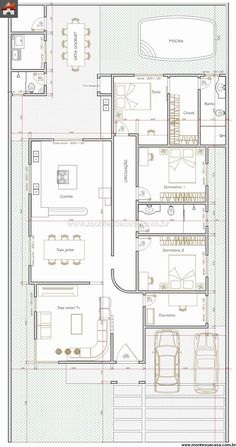 Ideas apartment architecture duplex for 2019 Bungalow House Plans, Dream House Plans, Small House Plans, House Floor Plans, Plan Ville, Model House Plan, Architectural House Plans, Apartment Entryway, Duplex Apartment