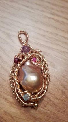 Details zu Echte Perlen Ohrringe (Herz), Draht Kunst/ Wire Work ...