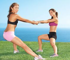 Want to slim down? Team up! Moves to help you lose pounds with a pal.