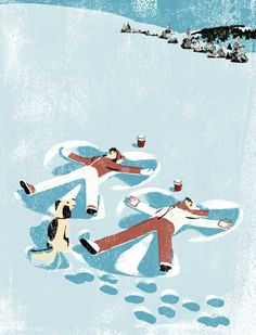 """This image was used for the Shopper bag for Starbucks Holiday Campaign 2007 """"Pass the Cheer""""  (с) Tatsuro Kiuchi"""