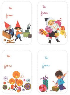 Adorable, printable tags featured on sewmamasew's handmade holidays from My Girl Thursday blog