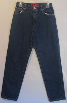 Levi's 550 Dark Blue Jeans 10 M 100% Cotton Relaxed Fit Tapered Womens W 30 L 30 #Levis #Relaxed