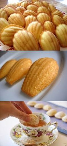 Madalena ou Madeleine - Madalena ou Madeleine Source by pilotandofogao Baking Recipes, Cake Recipes, Portuguese Recipes, Love Eat, Crab Cakes, Easy Cooking, Food Photo, Sweet Recipes, Food And Drink