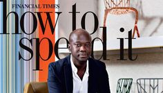 David Adjaye on the cover of How to Spend It