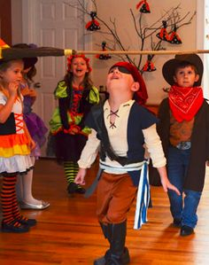 The preschoolers should do this. Halloween Party Ideas