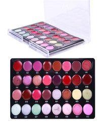 Wish   Pro Mini 32 Color Cosmetic Lip Lipsticks Gloss Makeup Palette Set kit (Size: 15.2cm by 10.1cm by 1cm)