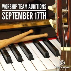 WORSHIP TEAM AUDITIONS SATURDAY SEPTEMBER 17th  Redemption Worship Music is hosting auditions Saturday September 17th from 9:00 AM to 11:00 AM. For more information and to sign up visit http://ift.tt/2ci3VWI to RSVP or http://ift.tt/1f30MYY  This will be a grace filled low pressure event. This is not American Idol. All are welcome. We are looking to help those who feel called to serve musically to discern whether this is a good fit and see where they might serve in our church. This is about…