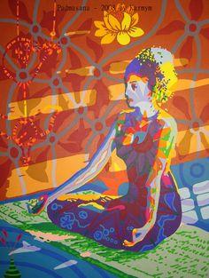 #yoga, #art, #acrylicpainting, #karmym, #asana, #yogaart, #yogicart