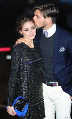 Olivia Palermo and Johannes Huebl posed together during a party thrown by Roberto Cavalli at the Cannes Film Festival.