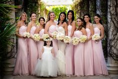 An Elegant Wedding at The Breakers Palm Beach, Danielle & Evan Pink Bridesmaid Dresses, Bridesmaids, Wedding Dresses, Strictly Weddings, Real Weddings, Danielle Evans, Breakers Palm Beach, Palm Beach Wedding, Pink Accents