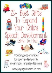 Ultimate Gift Guide Round-Up for Speech, Language, Social and Sensory Development! {and Gift Ideas for the SLPs in Your Life Too!}