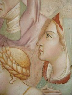 Agnolo Gaddi - Leggenda della Vera Croce, dettaglio - affresco - 1380-1390 - Cappella Maggiore - Basilica Santa Croce, Firenze