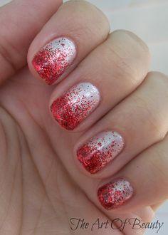 Valentine's Nails via The Art Of Beauty