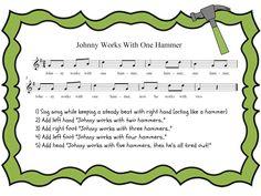 Pursuit of Joyfulness: Preparing Steady Beat: Johnny Works With One Hammer