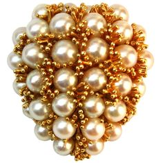 David Webb Gold & Pearl Brooch | From a unique collection of vintage brooches