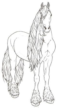 mandala eines pferdekopfs mit wehender mähne | malvorlagen