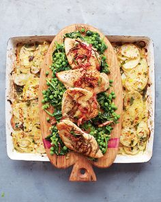 Rosemary chicken with bacon, braised greens & EASY potato gratin/ 15 minute meals by Jamie Oliver, continue to video allmyvideos.net/...