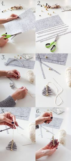 Do you see how easy it is? And what a beautiful! Diy Felt Christmas Tree, Toddler Christmas, Christmas Wood, Christmas Projects, Merry Christmas, Beautiful Christmas Decorations, Diy Weihnachten, Xmas Ornaments, Christmas Inspiration
