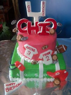 ohio state buckeye birthday cakes | Pin Ohio State Football Cake Michelles Creative Cakes Cake on ...