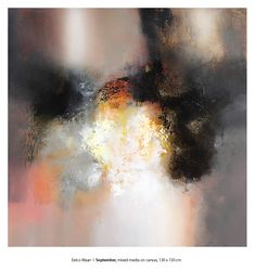 """Eelco Maan I """"September"""", mixed media on canvas, 130 x 130 cm, SOLD"""