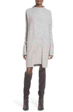 Free shipping and returns on Free People 'Zoe' Wool Pullover at Nordstrom.com. A boxy silhouette lends modern appeal to a cozy wool pullover framed with long, drapey sleeves, while roomy patch pockets add structural interest to the minimalist-chic style.