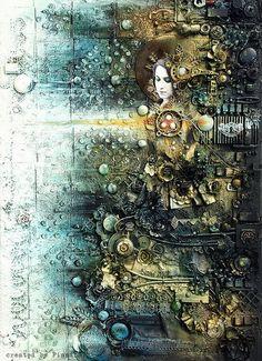 Скрапбукинг от Анны Дабровски: замечательные работы в стиле стимпанк
