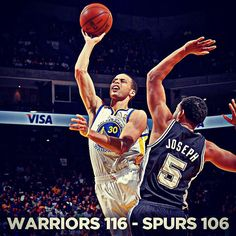 Steph Curry was unstoppable once again, hitting 7 threes and tallying 35 points in the Dubs win over the Spurs on #WarriorsGround. Warriors now sit in sixth spot in West with one game to play.