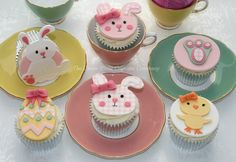 Cute Easter Cupcakes.
