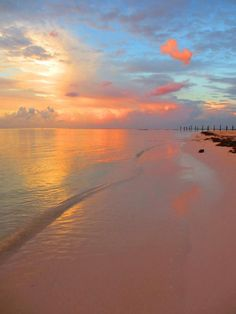 Sunrise on Maroma Beach, Riviera Maya, Where we fell in love. Where we will be wed. Our wedding colors.
