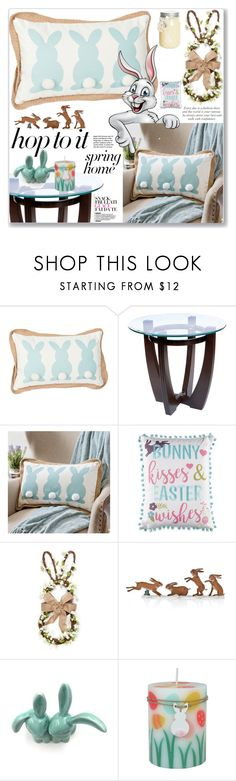 """""""Bunny Decor"""" by jecakns ❤ liked on Polyvore featuring interior, interiors, interior design, home, home decor, interior decorating, Babette, springhome and bunnydecor"""