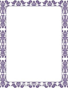 Purple Damask Border